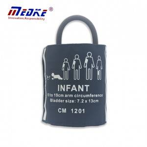 Infant NIBP Cuff, 10-19cm, tub individual amb la bossa, el general compatible, C1511