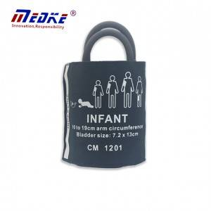Infant NIBP Cuff, doble tub amb la bossa, CM 1201, reutilitzable