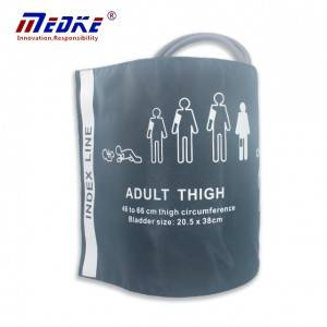Reusable NIBP Cuff, Adult Thigh, Double Tube With Bag, 46-66cm, C19211