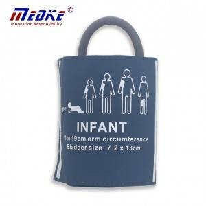 NIBP Cuff Ji bo Infant, zîl tube Single, PU C6511 şîn