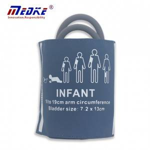 NIBP Cuff Ji bo Infant, zîl Double tube, C6521 10-19cm