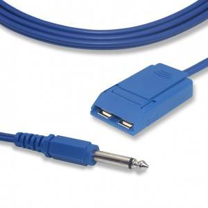 6.3 Audio Plug Blue external mold to Grounding Pad Cable CP1004