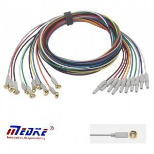 cable universal EEG, electrodo do vaso de EEG e cable de E0001-B