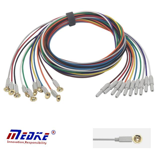 Universal EEG cable,Cup EEG electrode and cord E0001-B Featured Image
