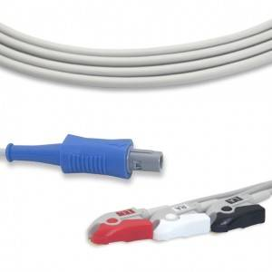 Biosys ECG Cable With 3 Leadwires AHA G3105P