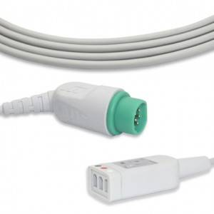 Drager-Siemens ECG Trunk Cable, 3lead, AHA G3108DR