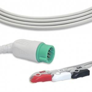 Medtronic-Physio Control  ECG Cable With 3 Leadwires AHA G3115P