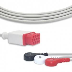 Bionet ECG Cable With 3 Leadwires AHA G3149S