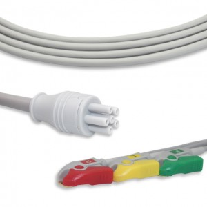 Colin ECG Cable With 3 Leadwires IEC G3206P