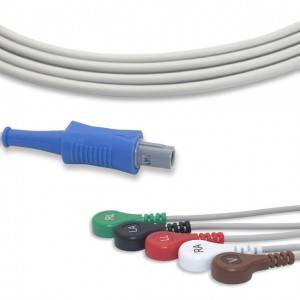 Biosys ECG Cable With 5 Leadwires AHA G5105S