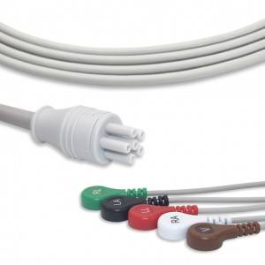 Colin ECG Cable With 5 Leadwires AHA G5106S