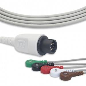 MEK ECG Cable With 5 Leadwires AHA G5120S