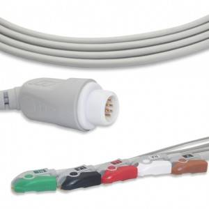 Philips ECG Cable With 5 Leadwires AHA G5124P
