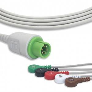 M&B Straight ECG Cable With 5 Leadwires AHA G5128S