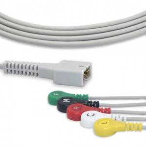 MEK ECG Cable With 5 Leadwires IEC G5219S