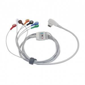 5/7/10 Leads Holter Patient ECG Cable for DMS G7185S