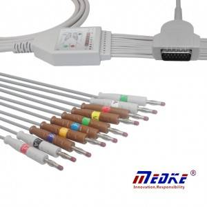 GE-Marquette EKG Cable With 10 Leadwires AHA K1106B
