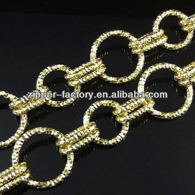 wholesale fancy newest round shape metal bag light gold long chain