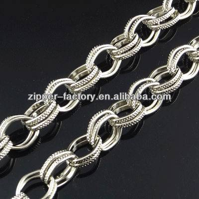 wholesale custom price long purse wallet handbag link metal steel chain for handbag