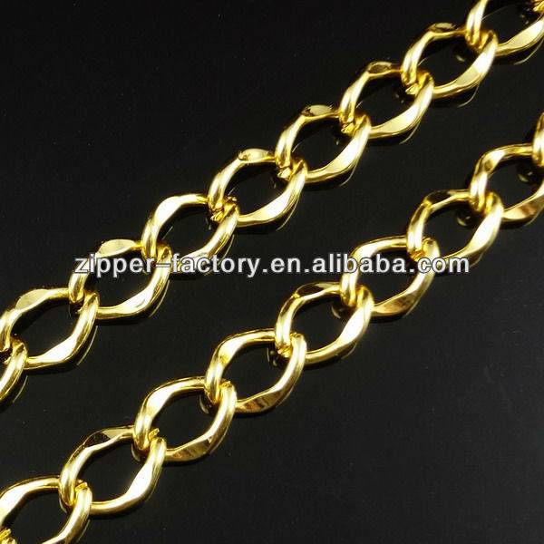 wholesale custom handbag purse wallet accessories link gold plated metal chain for bags