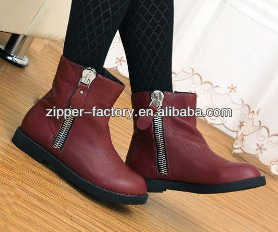 Hot Sale Fashion Metal Zipper for boots/shoes