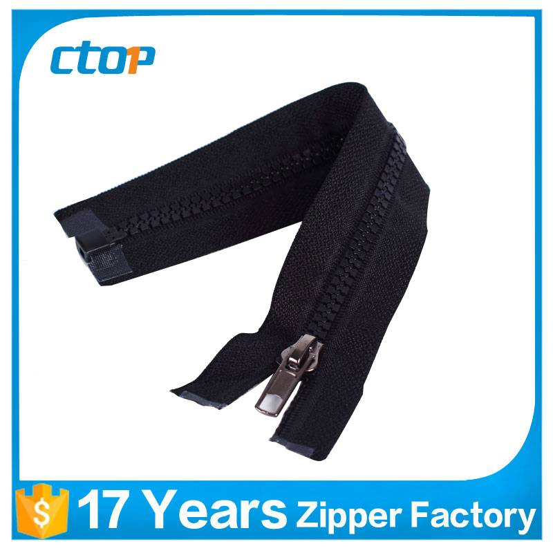 high quality low price custom reflective plastic zipper