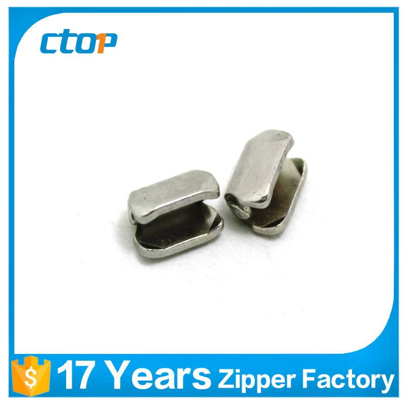 factory wholesale 5# plating top bag zipper stopper
