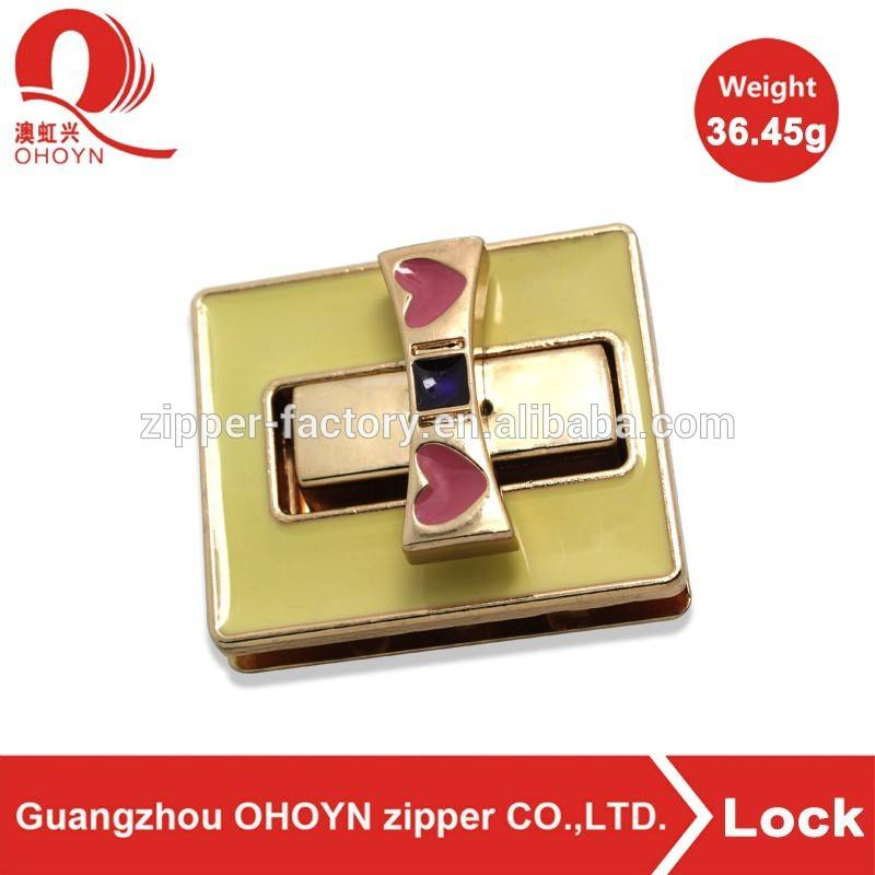 Factory sale fashion handbag accessory lock for bag