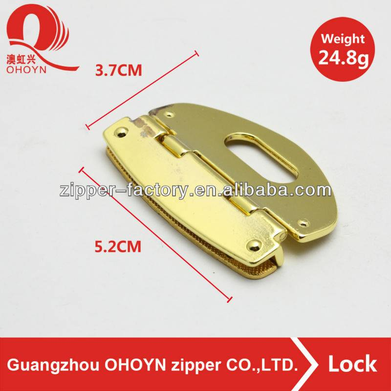 new products fancy metal bag twist turn lock