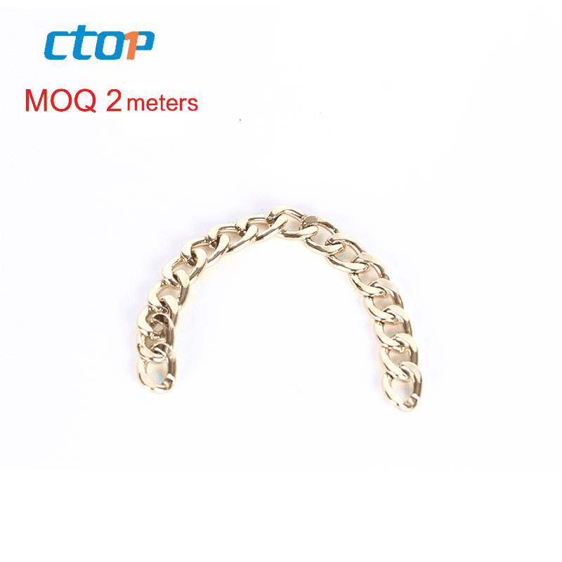 wholesale custom fashion decorative stainless steel wallet chain bag chain metal chains for bags