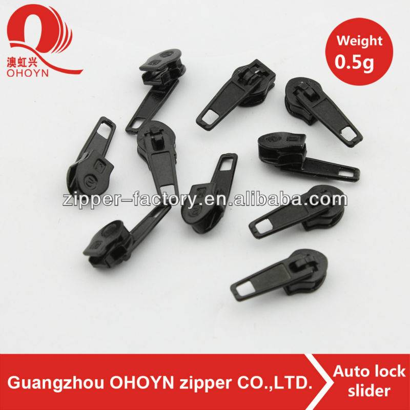 High end metal zipper head custom zipper slider