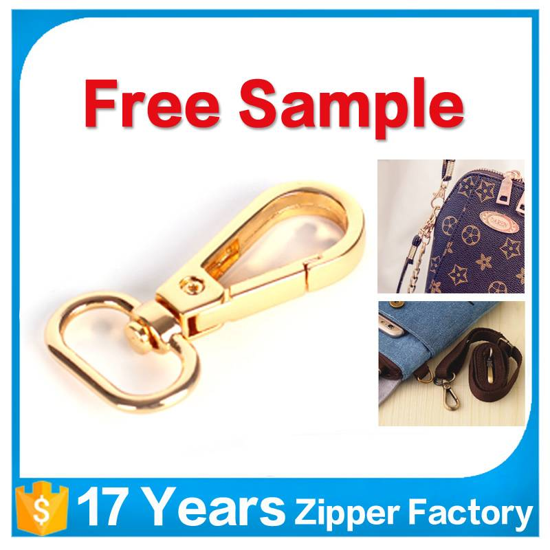 custom fashion metal accessory hardware clasp bag snap hook dog leash snap hook