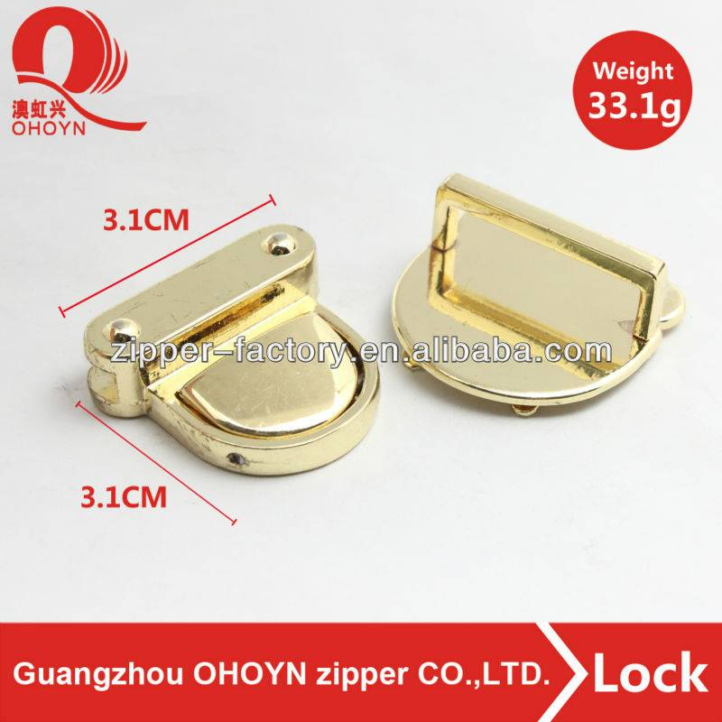factory custom bag lock metal press locks for handbags