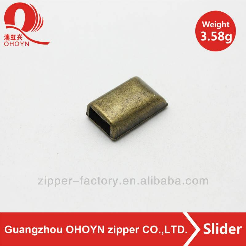 wholesale anti brass metal zip stopper