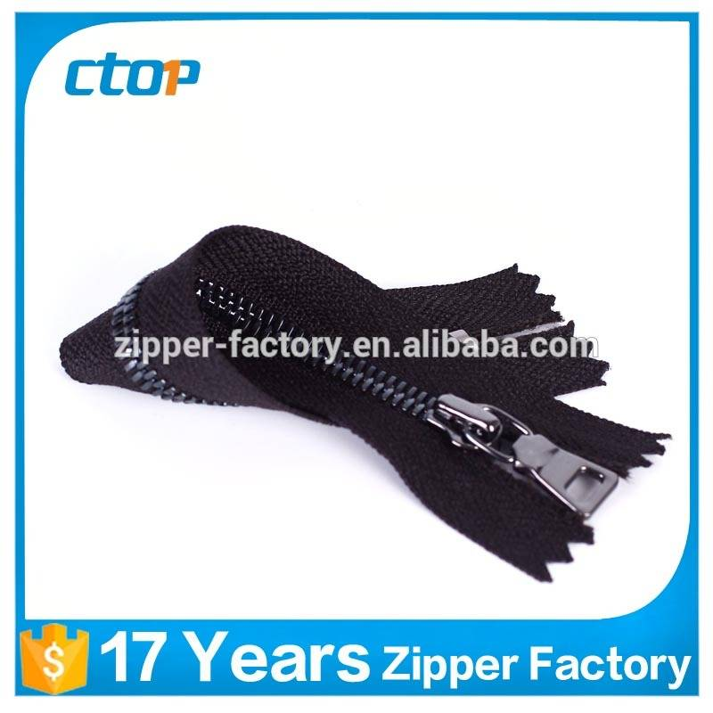 factory reasonable price close end y zip metal zipper