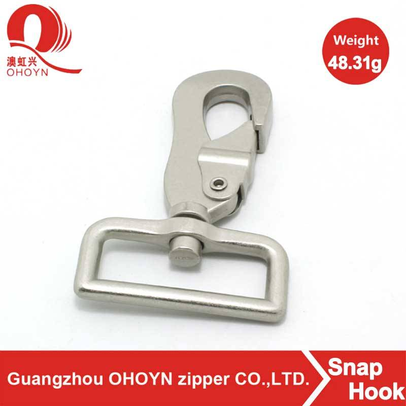 wholesale custom metal nickel bag part clip snap hook