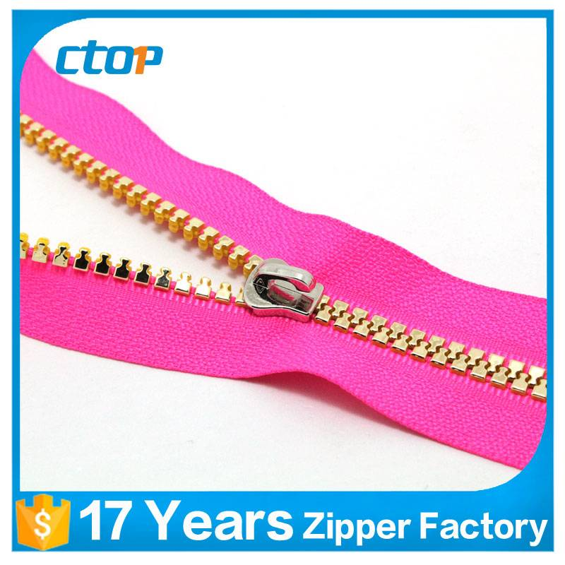 5# colored teeth plastic zipper for bag