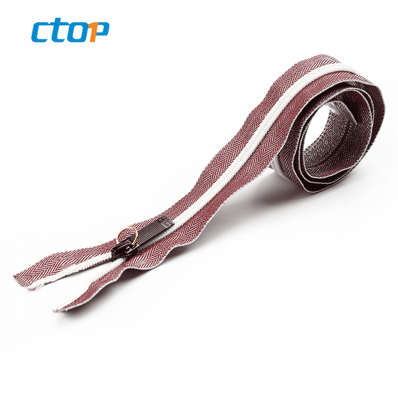 Wholesale nylon clothing zipper long chain zipper for handbag