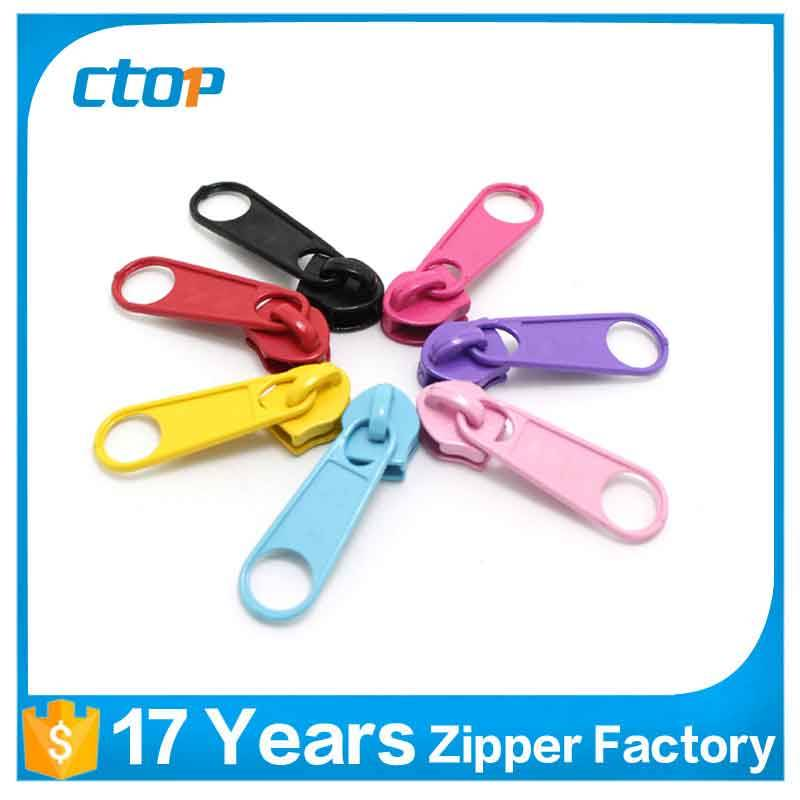 Different finished nylon zipper slider