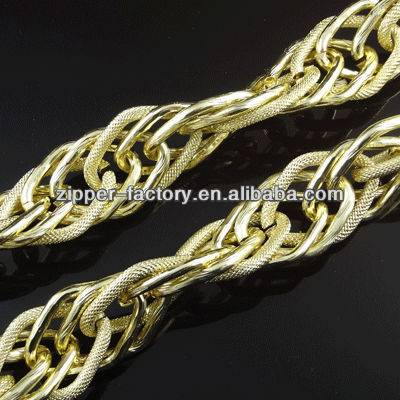 light gold accessory metal chain for bag