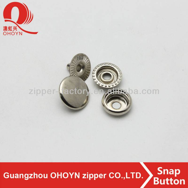 high quality nickel metal snap button
