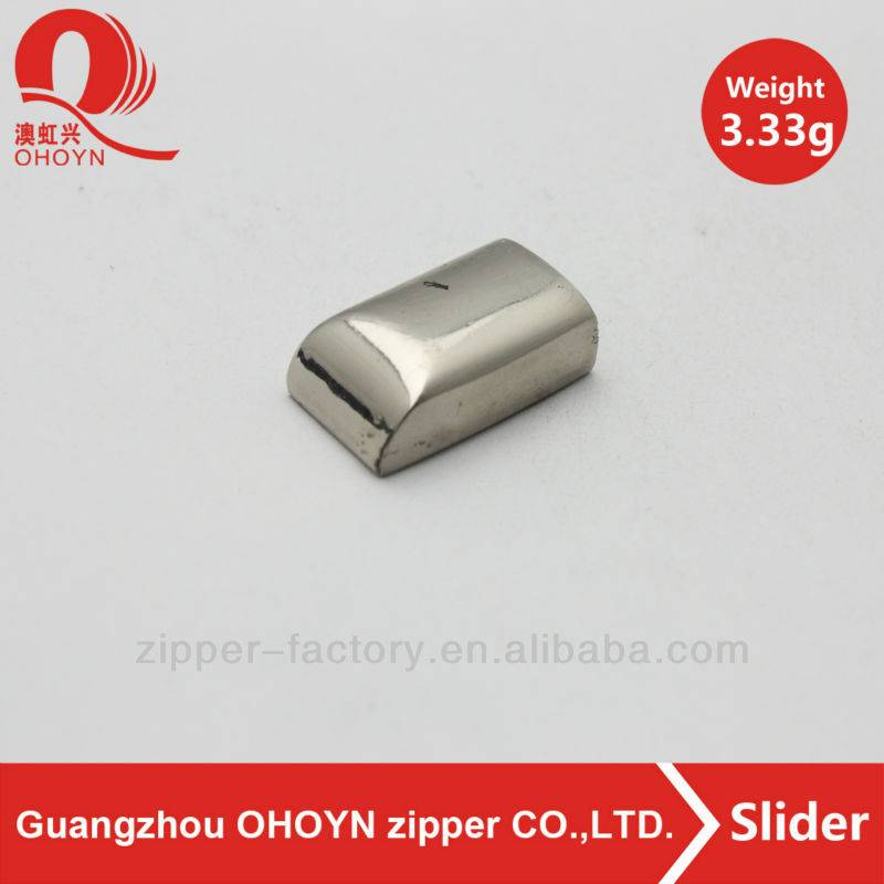 fashion good quality nickel accessory zipper stop metal zipper stopper