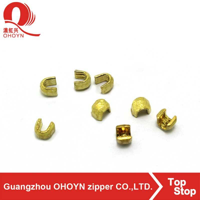 Good price with high quality gold U shape zipper stopper zipper pin