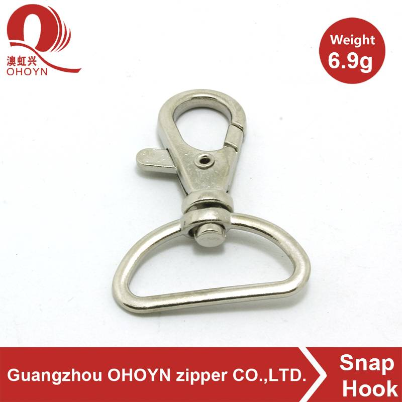 nickel metal snap hook for dog