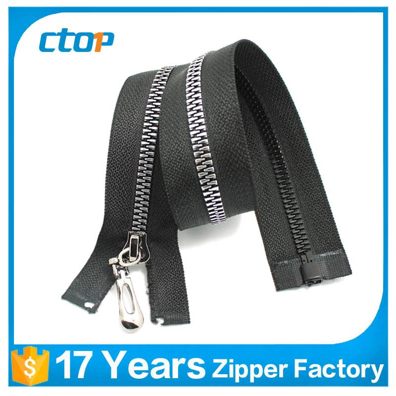 manufacturer prices professional open end big teeth jean zipper metal