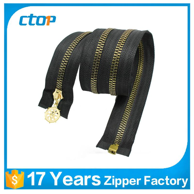 Nickel-Free Feature black Tape close end Nylon metal Zipper
