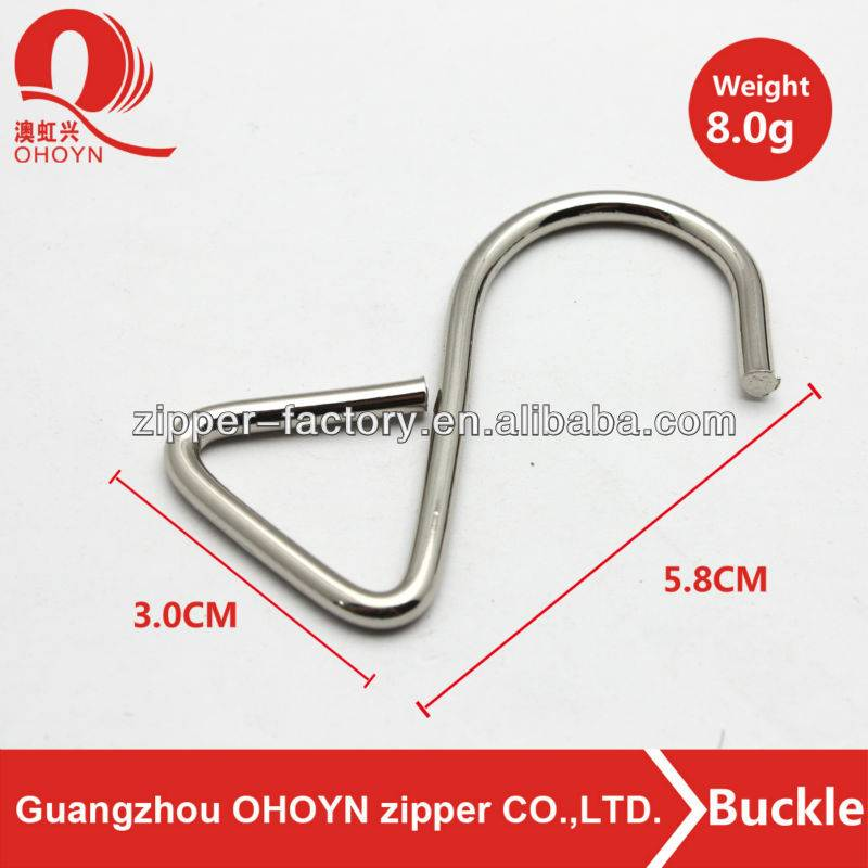 high quality low price custom 30mm reversible bag buckle