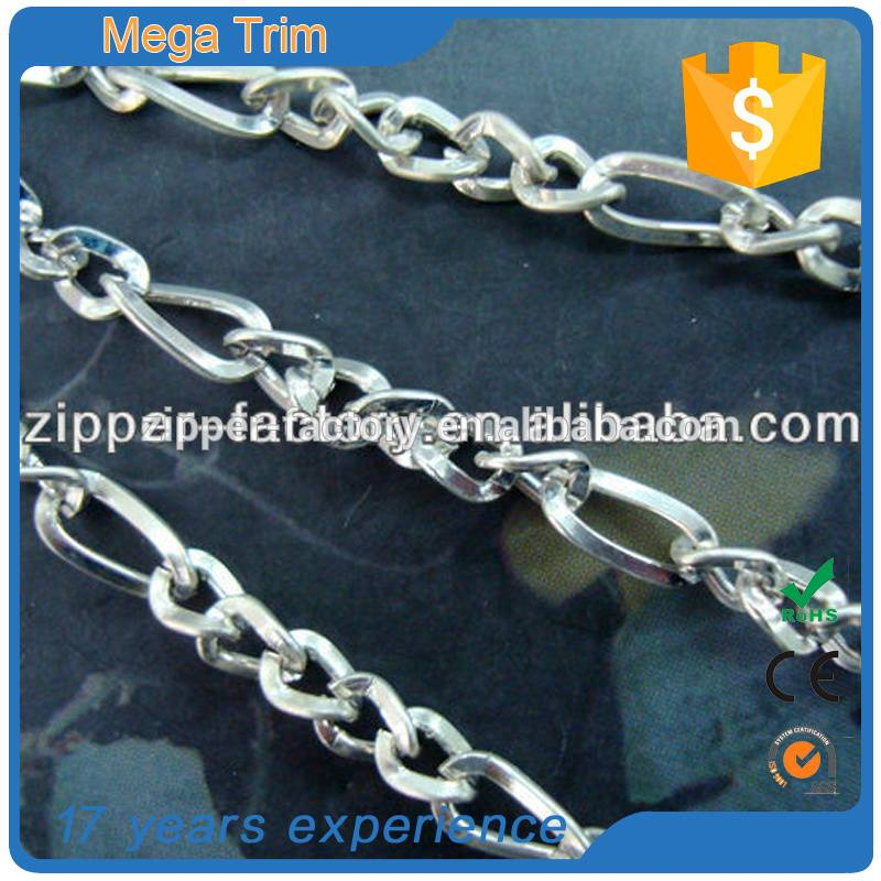 custom decorative bag accessories metal chain