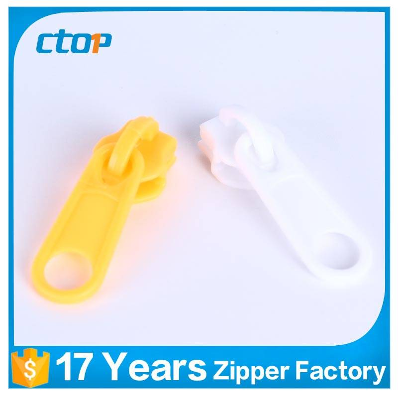 Special high quality custom color plastic zipper slider