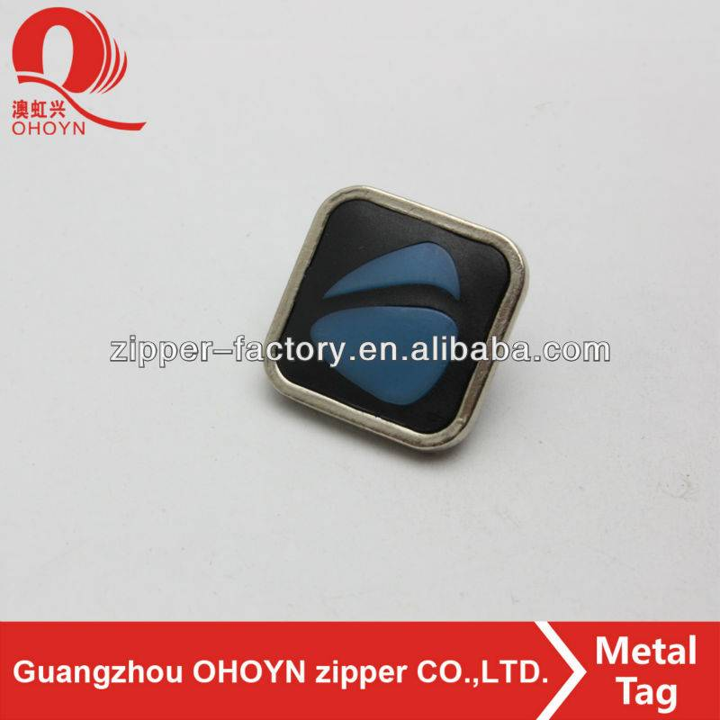 Factory directly supply Metal Rivets - Wholesale square wallet label small metal tag – MEGA TRIMMING